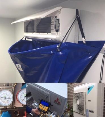 Split system air con servicing